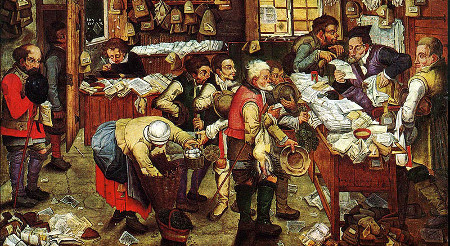 The Tax Collector by Brueghel the Younger