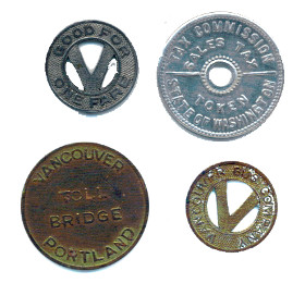 Washington State tax tokens